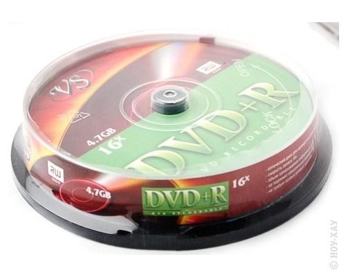 Диск VS DVD+R 4.7Gb 16x 10 шт