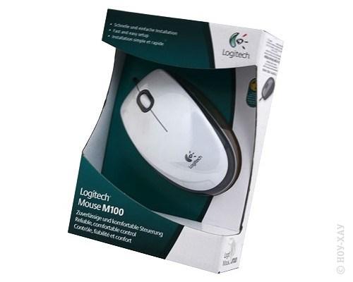 Мышь Logitech M100 White