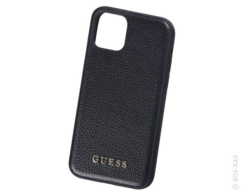 Панель-накладка Guess Iridescent Hard PU Black для Apple iPhone 11 Pro. Изображение 1.