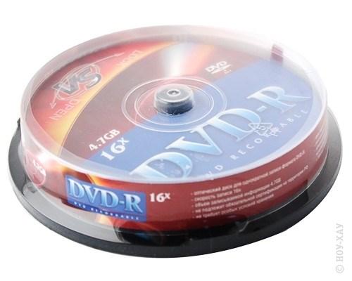 Диск VS DVD-R 4.7Gb 16x 10 шт
