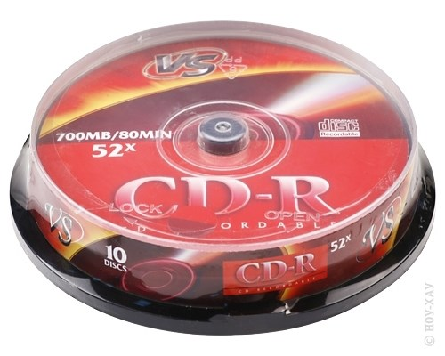 Диск VS CD-R 700Mb 52x 10 шт