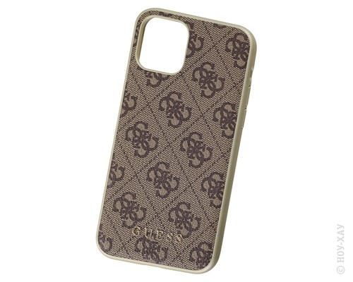 Панель-накладка Guess 4G Collection Hard Brown для Apple iPhone 11 Pro. Изображение 1.