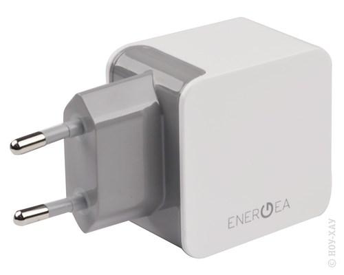 Зарядное устройство сетевое EnergEA Ampcharge 3.4 2 USB Wall Charger White
