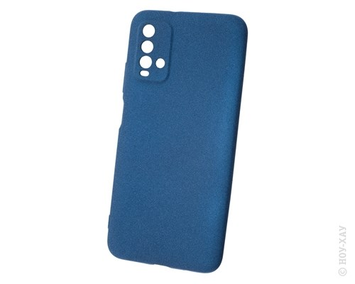 Панель-накладка NewLevel Fluff TPU Hard Blue для Xiaomi Redmi 9T. Изображение 1.