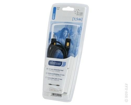Кабель Audio Jack 3,5 - Jack 3,5 Vivanco 5/10-N 1,5м