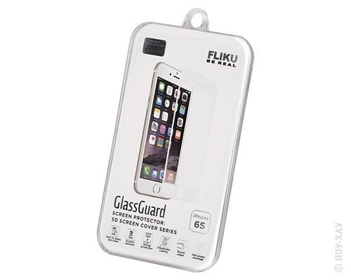 Стекло защитное Fliku GlassGuard 3D White frame для Apple iPhone 6/6S