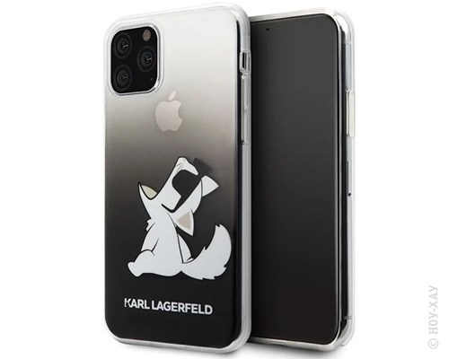 Панель-накладка Karl Lagerfeld Choupette Fun Sunglasses Hard Black для Apple iPhone 11 Pro Max. Изображение 3.