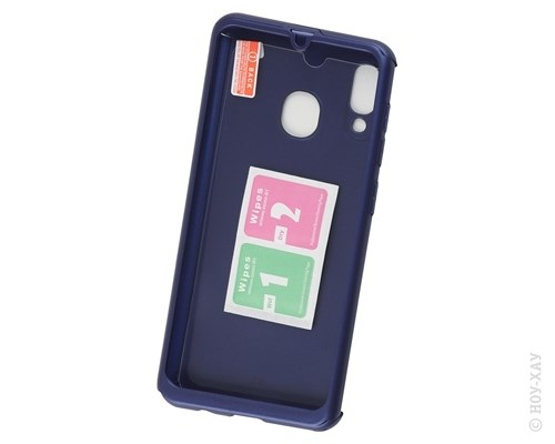 Комплект защитный Fashion Case 360° Protect Case Blue для Samsung Galaxy A30 (2019). Изображение 1.