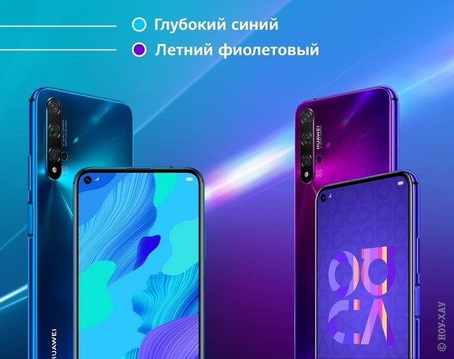 Обзор Huawei Nova 5T 6/128Gb Crush Blue. Рис.1