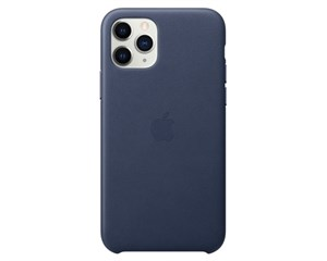 Панель-накладка Apple Leather Midnight Blue для Apple iPhone 11 Pro