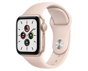 Apple Watch SE Aluminum Case Gold 40mm with Pink Sand Sport Band