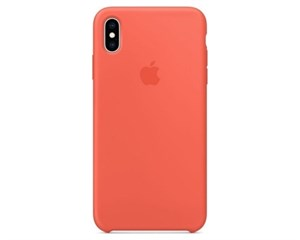 Панель-накладка Apple Silicone Case Hibiscus для Apple iPhone XS Max