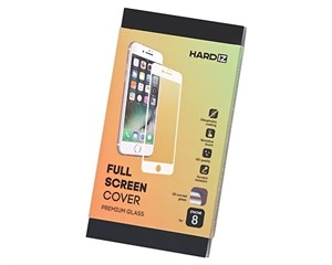 Стекло защитное Hardiz Full Screen Cover Premium Glass White Frame для Apple iPhone 8/7