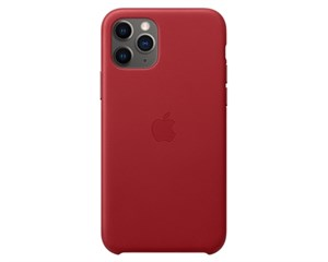 Панель-накладка Apple Leather Red для Apple iPhone 11 Pro