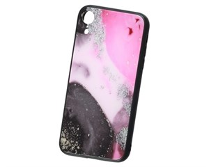 Панель-накладка Deppa Glass Pink для Apple iPhone XR