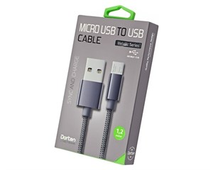 Кабель USB Dorten Micro USB to USB Cable Metallic Series 1,2 м Dark Gray