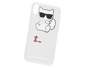 Панель-накладка Karl Lagerfeld Choupette Fun Eaten Apple Transparent для Apple iPhone XR