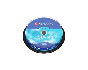 Диск Verbatim CD-R 700Mb 52x 10шт Cake Box