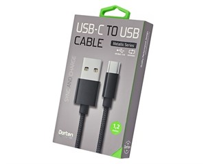 Кабель USB Dorten USB-C to USB Cable Metallic Series 1,2 м Black