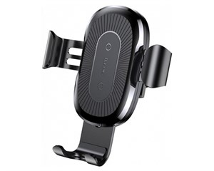 Держатель автомобильный + ЗУ Baseus Wireless Charger Gravity Car Mount WXYL-01 Black