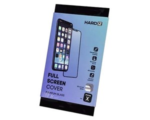 Стекло защитное Hardiz Full Screen Cover Premium Glass Black Frame для Apple iPhone X/XS