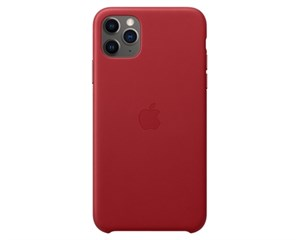 Панель-накладка Apple Leather Red для Apple iPhone 11 Pro Max