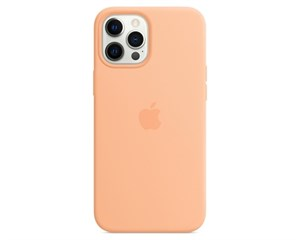 Панель-накладка Apple Silicone Case with MagSafe Cantaloupe для iPhone 12 Pro Max