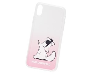 Панель-накладка Karl Lagerfeld Choupette Fun Sunglasses Hard Pink для Apple iPhone XR