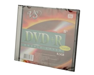 Диск VS DVD+R 8,5Gb 8x, 1 шт., двухсл.