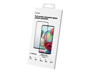 Стекло защитное Barn&Hollis Full Screen Tempered Glass Black Frame для Samsung Galaxy S21