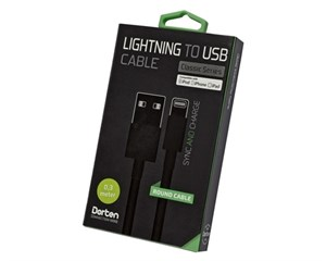 Кабель USB Dorten Lightning to USB cable Black 0,3 м