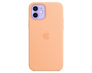 Панель-накладка Apple Silicone Case with MagSafe Cantaloupe для iPhone 12/12 Pro