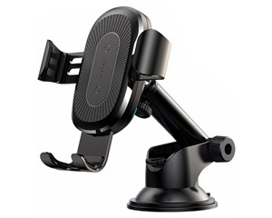 Держатель автомобильный + ЗУ Baseus Wireless Charger Gravity Car Mount WXYL-A01 Black