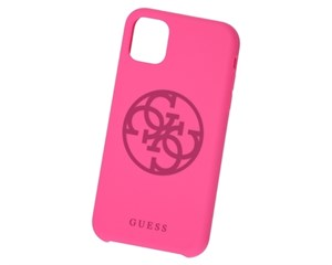 Панель-накладка Guess Silicone Collection 4G Logo Hard Fuchsia для Apple iPhone 11